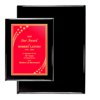 "7"" x 9"" Black Piano Finish Plaques 
