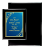 "9"" x 12"" Black Piano Finish Plaque 
