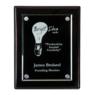 "8"" x 10""  Black Floating Award Plaque 
