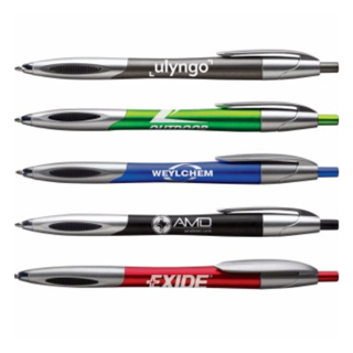 Economical Janita Grip Pen | Personalized Business Pen | promotional pens with stylus | Custom Pens No Minimum | Logo Printed Pen