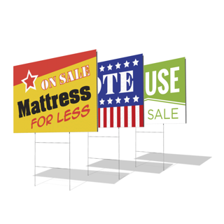 Custom Yard Signs (Double Sided) - 24 x 18, Printed Real Estate Signs | Custom Yard Signs | Custom Printing Services | | MawardsPlus.com