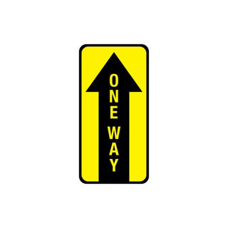 Picture of One Way Floor Sign